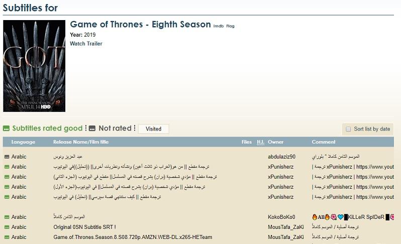 Laith S Tech أفضل مواقع ترجمة الأفلام تحميل الترجمة العربية للأفلام والمسلسلات Subtitle